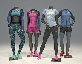 Woman mannequin Nike pack 2 3D model