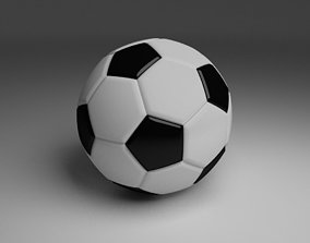 High Quality Classic Football 3D asset