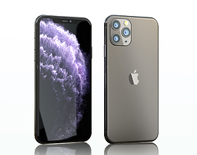 3D model iphone 11 pro max space gray