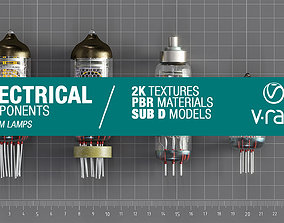 3D asset low-poly Electrical components vol1