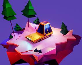 Yellow Car 3D asset