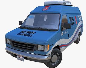 American generic newsvan 3D model