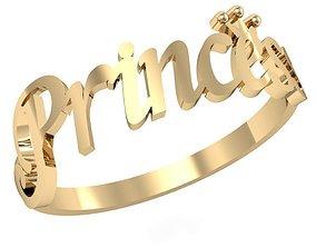 3D print model ring little Princess