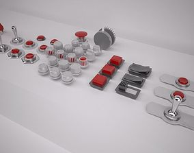 Switches and Buttons 3D model