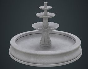 Fountain 2A 3D asset game-ready