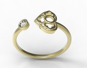 ring ruby 3D printable model Ring