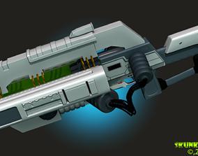 Railgun Rifle HighPoly 3DPrint war