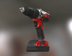 3D asset VR / AR ready Low poly Electric Drill with