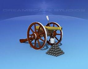 Model 1841 6lb field cannon 3D