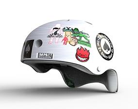 3D model White Retro Helmet