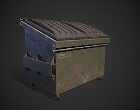 3D asset game-ready bin Dumpster