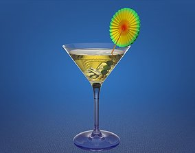 Martini glass 3D model kitchenware