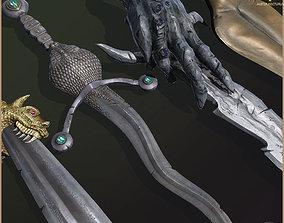 3D asset Legendary Swords Collection