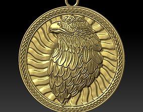 3D printable model Eagle pendant 4