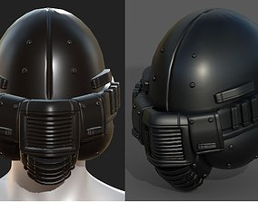 3D asset Helmet plastic mask Helmet plastic mask