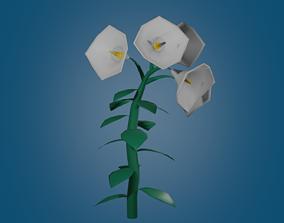 cartoon flower 3D model realtime