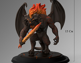 Balrog Stylized 3D Print Model orcs