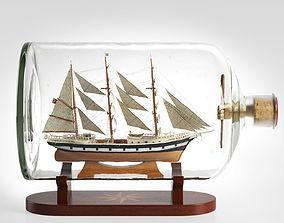 Ship in a Bottle Seute Deern 3D