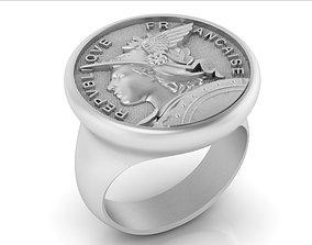 3D print model ring French Republic Republique