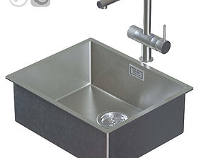 3D model Crane GROHE MINTA and sink for the kitchen GROHE