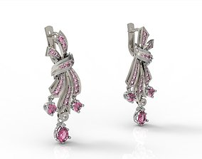 rococo elegant earrings 3D print model