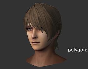 man hair style 01 3D model