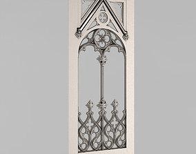 3D printable model balustrade Carved door