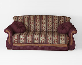 Armchair sofa 3D asset game-ready