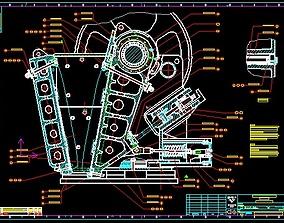 Sandvik jm907 jaw crusher complete drawing 3D model