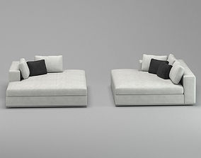 White Luxurious Class Sofa 3D