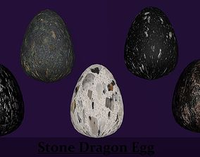 Stone Marble Dragon Eggs Pack Collect Monster 3D asset 1