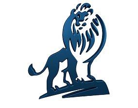 Lion Emblem v1 008 3D asset