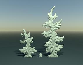 Two fir trees 3D print model