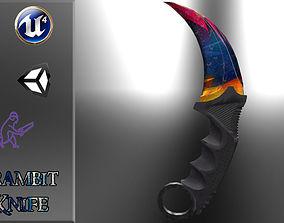 Karambit Knife Colorful Diamonds Style 3D asset