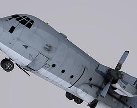 3D asset realtime Lockheed C-130H Hercules USAF