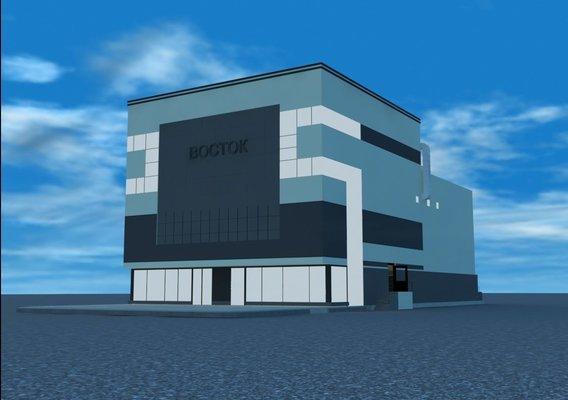 shopping center East 3D model