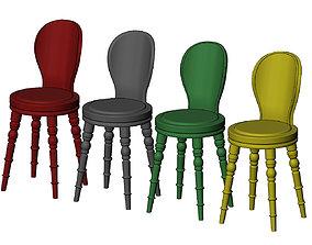 Miniature modern stool mockup prop 3D printable model
