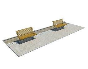 3D Street Public Benches