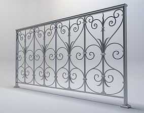 handrail with a beautiful pattern 3d model VR / AR ready