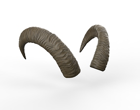 horns of a goat Low-poly 3D model rigged VR / AR ready