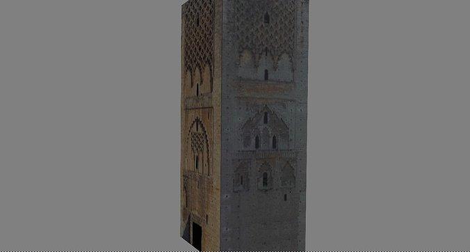 tour-hassan-3d-model-obj-mtl-fbx-stl-glt