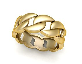 Light Weight Cuba Chain Ring 3D print model
