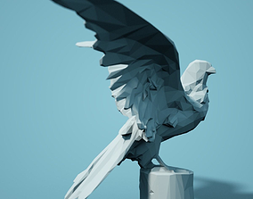 Falcon Low Poly Bird 3D printable model