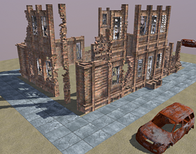 Old Brick House 3D model game-ready