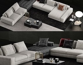 3D Minotti Lawrence Sofa 5