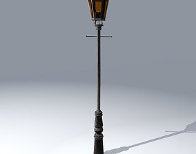 3D asset Antique Lamp Street Light Low Poly