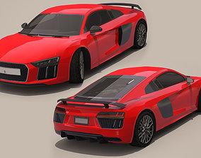Audi R8 3D asset game-ready