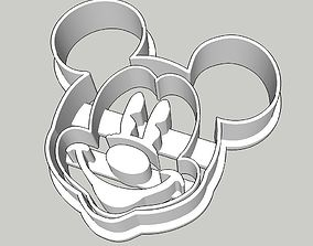 3D printable model Mickey Mouse Cookie Cutter 2 inches