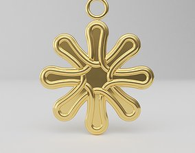 Celtic pendant six cross 3D print model