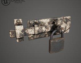 Metal Door Lock 3D asset